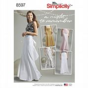8597 Simplicity Pattern: Misses' Evening/Special Occasion Long Skirts